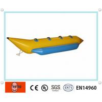 Buy cheap Single Tube 4 Person Inflatable Fishing Boat , Colorful Inflatable Bbanana Boat Toy For Ocean from wholesalers