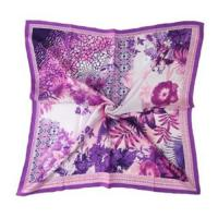 Buy cheap Lady's fashion 100%silk  printed  square scarf from wholesalers