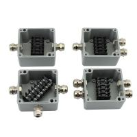 Buy cheap Sealed Die-cast Aluminum Enclosure Case Project Junction Box 86*76*57mm with Terminal Blocks from wholesalers