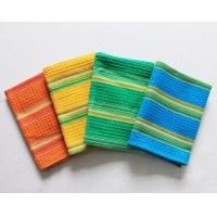 Buy cheap 100% Cotton Waffle Hanging Dish Towels Bamboo Fiber With Good Shrink Resistance from wholesalers