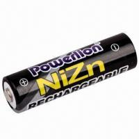 Buy cheap NiZn 1.6V AA Rechargeable Battery with 2,500mWh Capacity from wholesalers