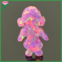 Buy cheap OP22 Rose pink lab created synthetic fire little girl opal ethiopian opal price per gram from wholesalers