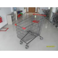 Buy cheap Zinc Plating Powder Coating 270L Grocery Store Cart With Four  PU Casters from wholesalers