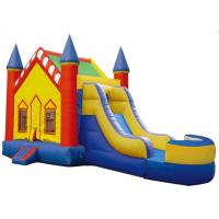Buy cheap Big Party Bright Inflatable Bouncer Combo Blow Up Fun House  0.55mm PVC Tarpaulin from wholesalers