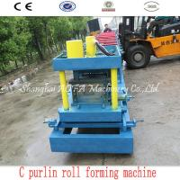 Buy cheap 415V C Purlin Roll Forming Machine For 80-300mm C Steel Purlin from wholesalers