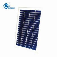 Buy cheap 5W 6V solar panel photovoltaic for solar panel battery charger ZW-5W-6V aluminum profile frame thin film solar panel from wholesalers