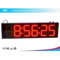 Buy cheap 6 Inch Red Digital Led Clock Display Support 12 / 24 Hour Format Switch from wholesalers