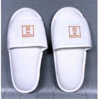 Buy cheap White Open or close Toe waffle fabric, non woven and cotton Bath Spa, Hotel Slipper from wholesalers