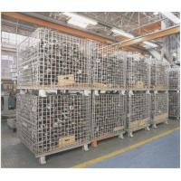 Buy cheap Heavy Weight Foldable Collapsible Wire Containers W47 X D39 X H35 In Zinc plate Finishes from wholesalers