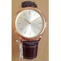 Buy cheap Swiss Style Luxury Watch for Men Brown Leather Strap Steel Watch from wholesalers
