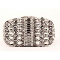 Multi Glitter Stylish Evening Stone Clutch Bag Detachable Chain For Party