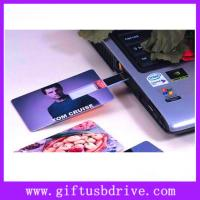 Buy cheap OEM colors printing and super thin USB card full capacity 4G,8G,16G from wholesalers