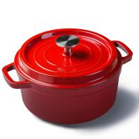 Buy cheap Mini enamel cast iron cookware round pot Diameter 10cm red/blue/green/orange color from wholesalers