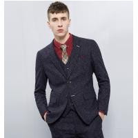 Buy cheap Men's Casual Business Suits 3 Piece Royal Blue Slim Fit Suits OEM from wholesalers