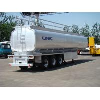 Buy cheap tank trailer manufacturer Stainless steel fuel tank trailer in good size  for sale from wholesalers
