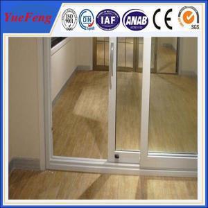 China aluminium door frame price,6063 high standard aluminium profile for sliding glass door on sale