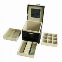 Buy cheap Stacker Jewelry Box, Wrapped with Croco Leather, Various Color, Logo and Sizes are Available from wholesalers