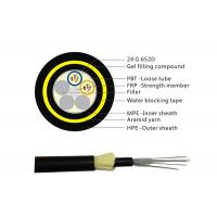 Buy cheap Light Weight Aerial Outdoor Fiber Optic Cable 24 core ADSS Singlemode from wholesalers