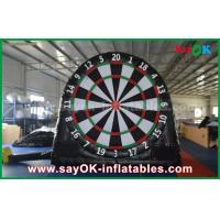 Buy cheap Black Inflatable Sports Games / Customized PVC Inflatable Soccer Dart Board from wholesalers