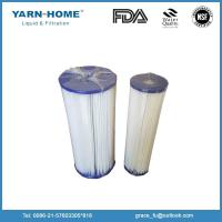 Buy cheap Water filter use and NSF certification pleated water filter cartridge from wholesalers