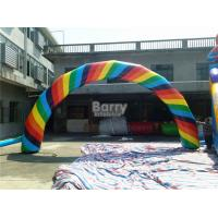 Buy cheap Colorful Advertising Inflatable Finish Line Arch With Logo Printing from wholesalers