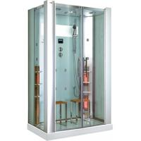 Buy cheap Rectangle Steam Shower Room With Infrared Sauna CE , 5mm Clear Glass from wholesalers