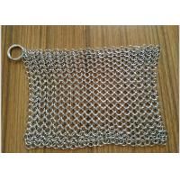 China 8x 6 Stainless Steel Cast Iron Cleaner Chainmail Scrubbers For Cast Iron Pan on sale
