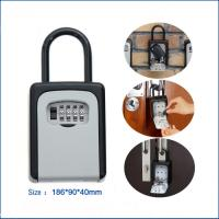 Buy cheap Outside Metal Hook 4- Bit Code Combination Key Box Wall Mounted Door Holder from wholesalers