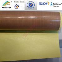 Buy cheap Teflon /PTFE high temperature cloth, PTFE glass fiber  cloth from wholesalers
