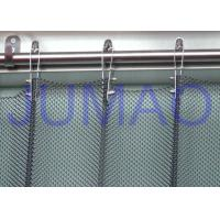 Buy cheap Fireproof Silver Metal Mesh Curtains Metal Coil Drapery For Exhibition Blinds product