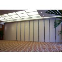 Buy cheap Modern Collapsible Operable Acoustic Partition Wall Aluminum Frame Melamine Finish from wholesalers