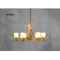 Buy cheap MASO Vintage Resin Material Antlers Chandelier Six Lamps Marble Cover E14 Screw Base 750*400 MS-P4002 Different Light from wholesalers