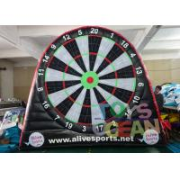 Buy cheap 6 X 5m Double Sided Football Soccer Dart Board Inflatable Sport Game Goal Post from wholesalers