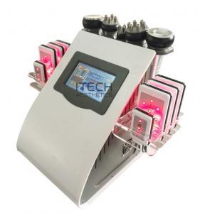 Buy cheap 6 In 1 Lipo Laser + Cavitation + RF + Vacuum / RF Cavitation Vacuum Lipolaser Slimming Machine product