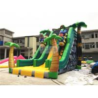 Buy cheap Beautiful Jungle Palm tree Commercial Inflatable Slide With Full Printing from wholesalers