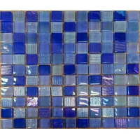 Buy cheap Modern Plating Printing 4mm Mosaic Crystal Glass Tile from wholesalers