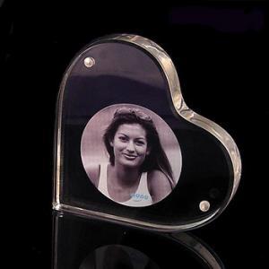 Buy cheap Heart Shape Acrylic Magnetic Photo Frames 3R 4R 5R Customized product