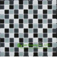 Buy cheap 300mm*300mm Glass Crystal Mosaic Tile for Kitchen/Bathroom wall, Mixed Dark Color from wholesalers