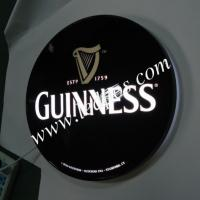 Buy cheap Gunness Illuminated Sign Round Shape Lightbox from wholesalers