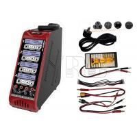 Buy cheap Quad port Lipo Lion LiFe LiHV Nimh Nicd battery charger built in power supply from wholesalers