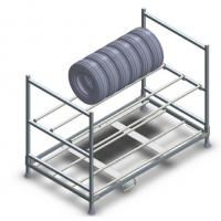 Buy cheap Industrial Metal Shelf System Warehouse Tire Storage Stacking Rack from wholesalers
