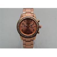 Buy cheap Rose gold Metal Strap Watch / Analog Quartz Watch 1ATM Waterproof from wholesalers