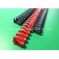 Buy cheap Red / Black Book Binding Combs Round Shape 19 Rings 32MM Diameter from wholesalers