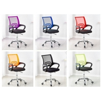 Buy cheap Back Ribbed PU Leather Swivel Executive Black Office Chair from wholesalers