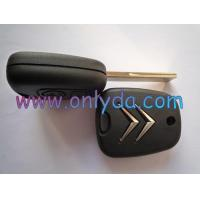 Buy cheap Citroen 2 button remote key blank with hu83 blade from wholesalers