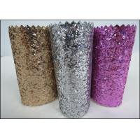 Custom Design Grade 3 PU Glitter Fabric 0.7mm For Making Hair Accessories