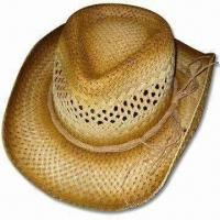 Buy cheap Cowboy Straw Hat, Made of Paper, Suitable for Summer and Color Spraying from wholesalers