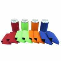 Buy cheap Qualified promotional foldable beer sleeve neoprene beer Can Cooler Holder size:10cmc*13cm  Material is neoprene from wholesalers