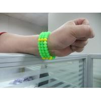 Buy cheap Korea Styly Lady Jewelry Silicone Bead DIY Bracelet With Green & Yellow from wholesalers