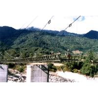 Buy cheap Large Span Steel Suspension Cable Stay Bridges With Rock Anchors from wholesalers